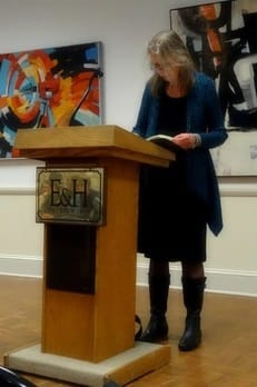 Felicia Mitchell reading at Emory & Henry College